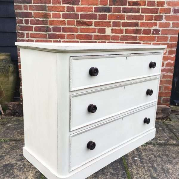 William IV Painted Satin Birch Chest1