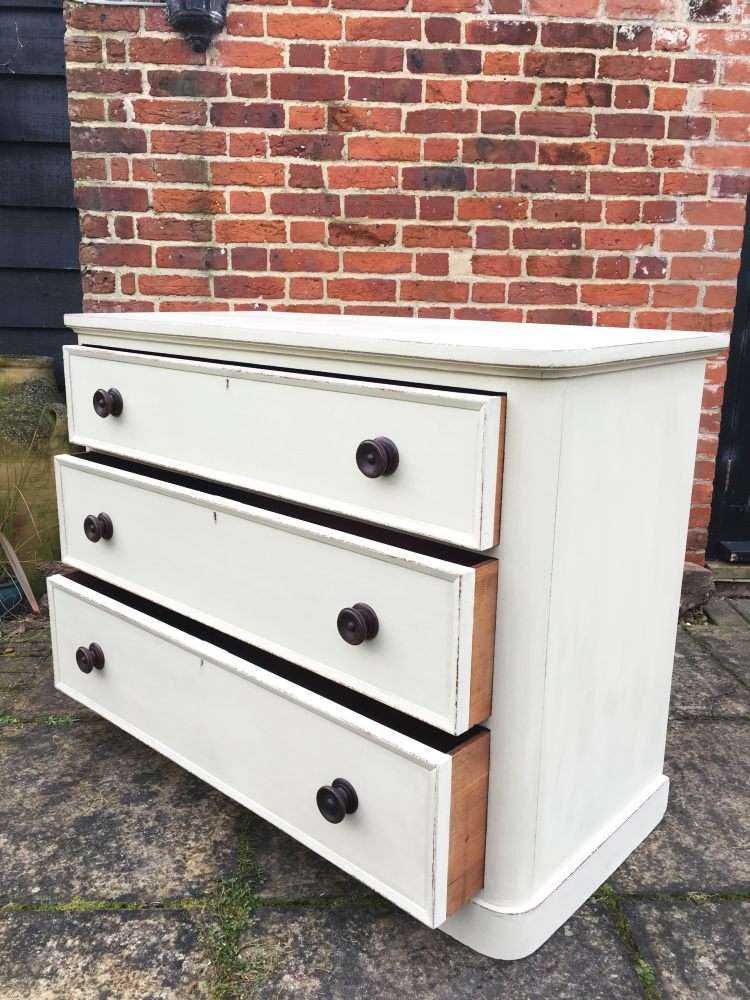 William IV Painted Satin Birch Chest