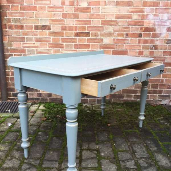 Mid Victorian Painted Pine Writing Desk Table2