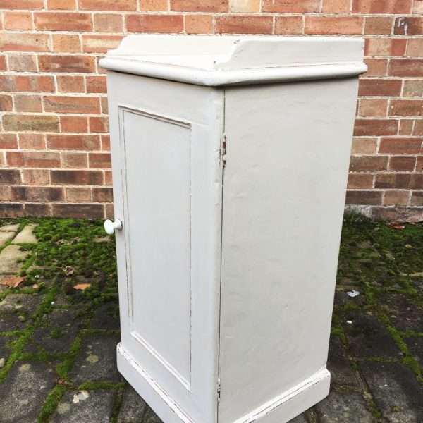 Late Victorian Painted Pine Pot Cupboard1