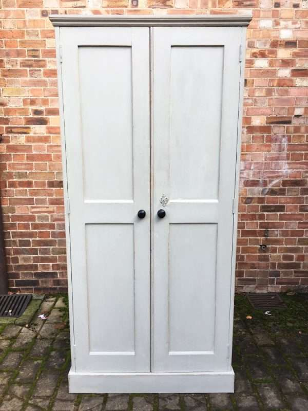 Mid Victorian Painted Pine Linen Cupboard SOLD- Ref:1242