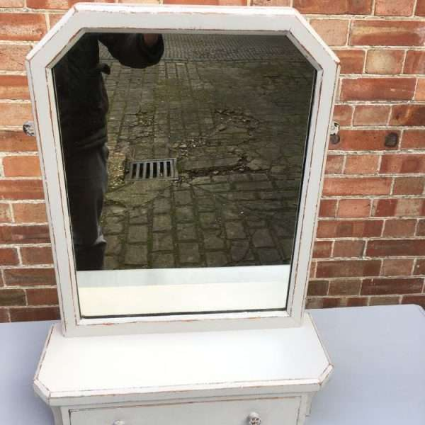 Edwardian Painted Oak Toilet Mirror