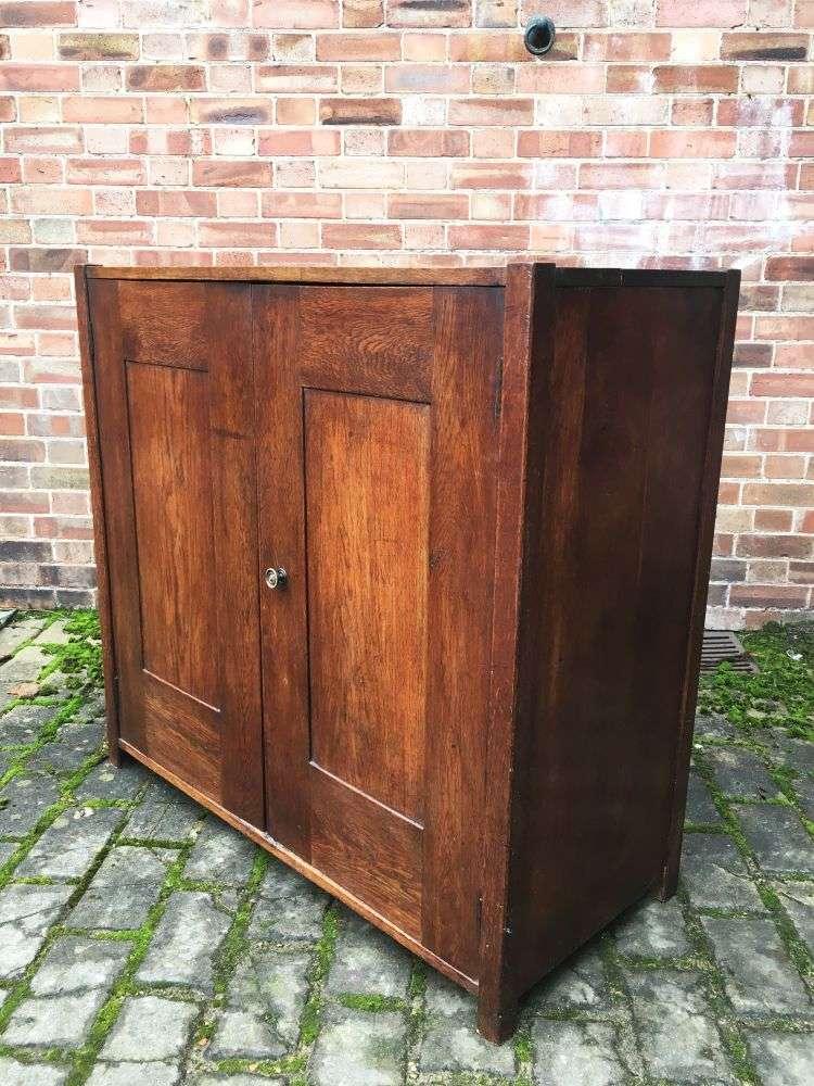1930 39 s oak 2 door cupboard ref 1249 old painted furniture for 1930s front door furniture