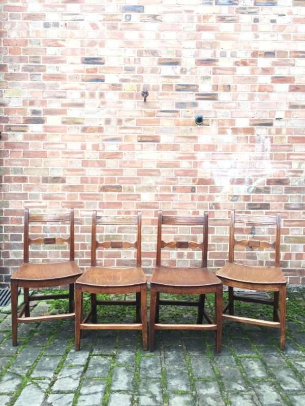Regency Elm Country Suffolk Chairs SOLD- Ref:1246