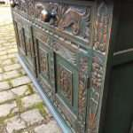 1960's Painted Oak Jacobean Style Cupboard SOLD – Ref:1255