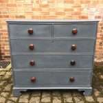 Early Victorian Painted Oak Chest Of Drawers SOLD- Ref:1251