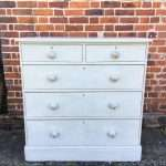 Mid Victorian Painted Pine Chest Of Drawers SOLD – Ref:1257