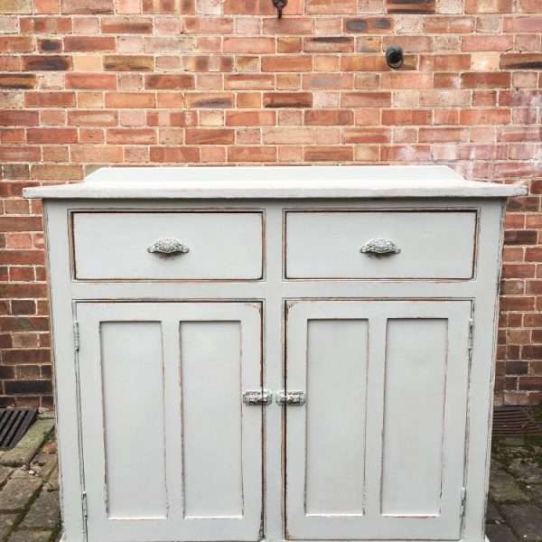 Mid Victorian Painted Pine Utility Cupboard