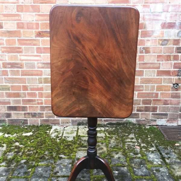 William IV Mahogany Flip Top Tripod