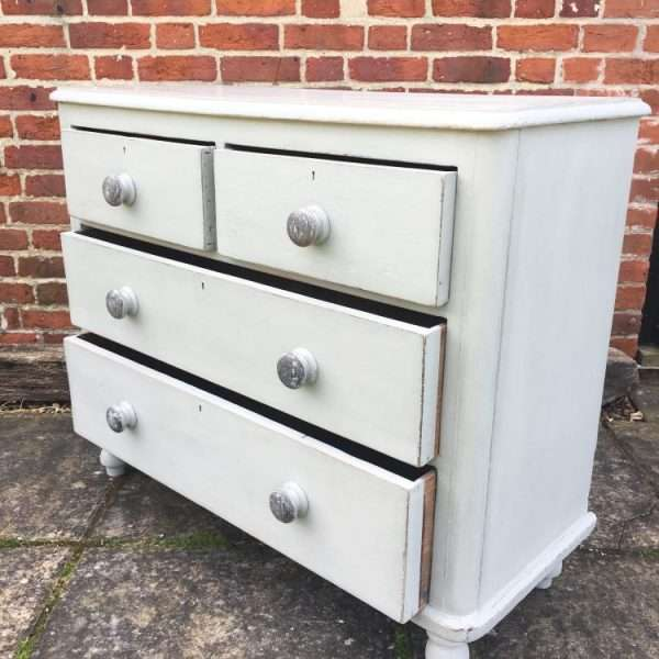 Late Victorian Painted Pine Chest Of Drawers Sold Ref