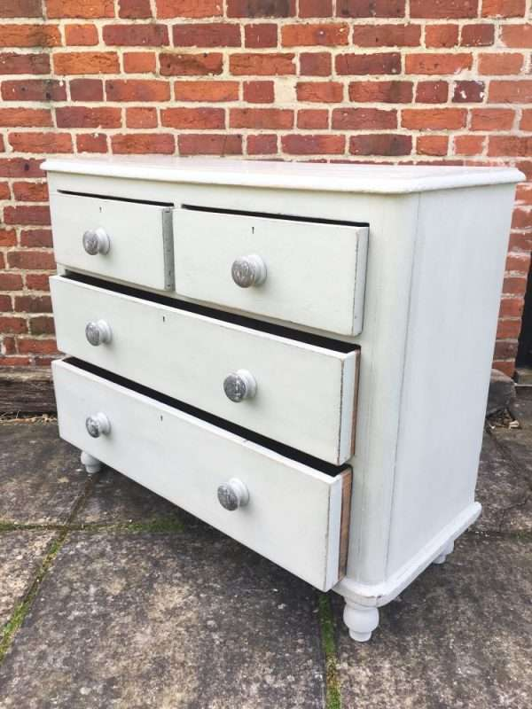 Late Victorian Painted Pine Chest Of Drawers SOLD – Ref:1263