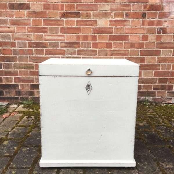 Edwardian Painted Pine Storage Box3