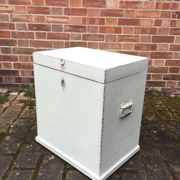 Edwardian Painted Pine Storage Box1