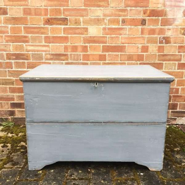 Mid Victorian Painted Pine Blanket Chest3