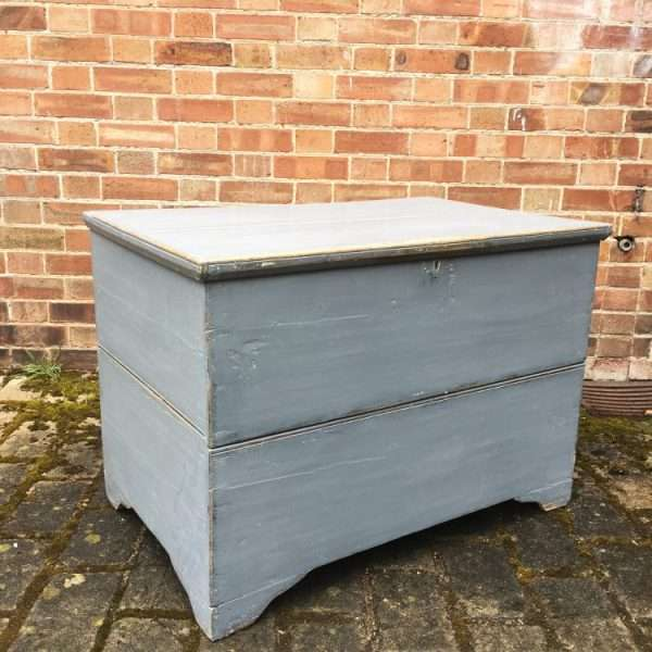 Mid Victorian Painted Pine Blanket Chest1