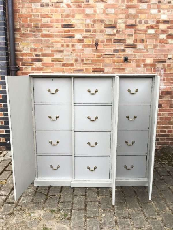 Edwardian Painted Mahogany 12 Drawer Cabinet SOLD- Ref:1274