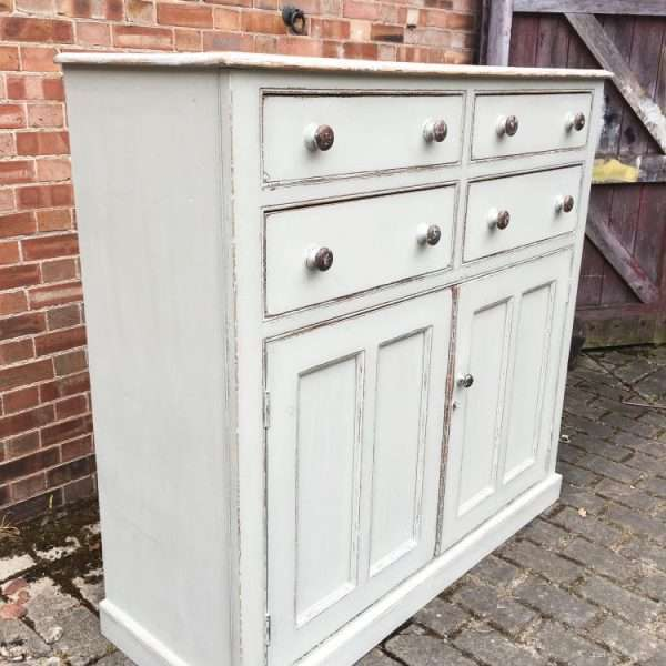 Mid Victorian Painted Pine Stable Cupboard4
