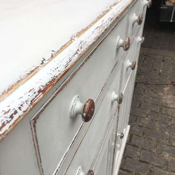 Mid Victorian Painted Pine Stable Cupboard2