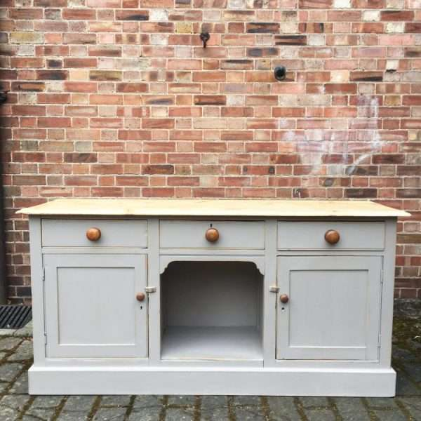 Mid Victorian Painted Pine Dresser Base