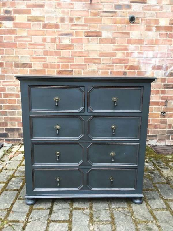 Edwardian Painted Oak Chest Of Drawers SOLD- Ref:1276