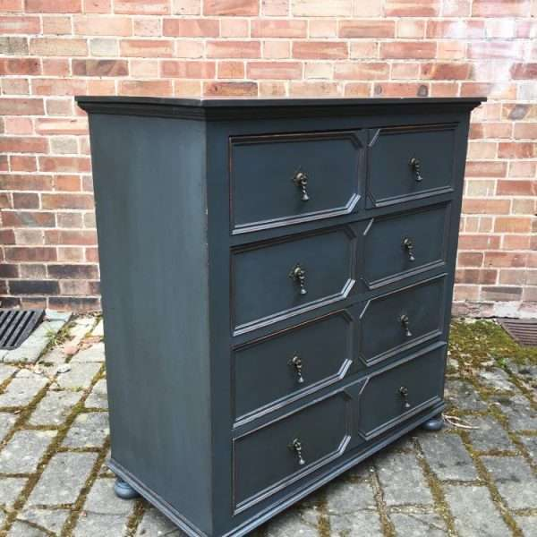 Edwardian Painted Oak Chest Of Drawers1