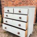Early Victorian Painted Mahogany Chest Of Drawers SOLD- Ref:1279