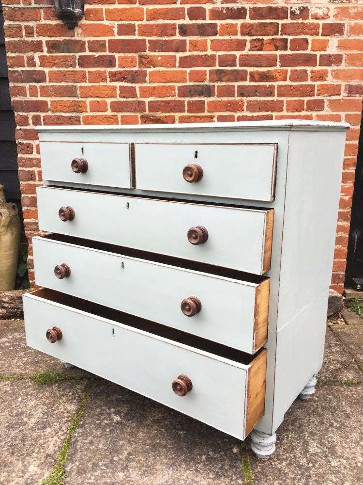 Early Victorian Painted Mahogany Chest Of Drawers1