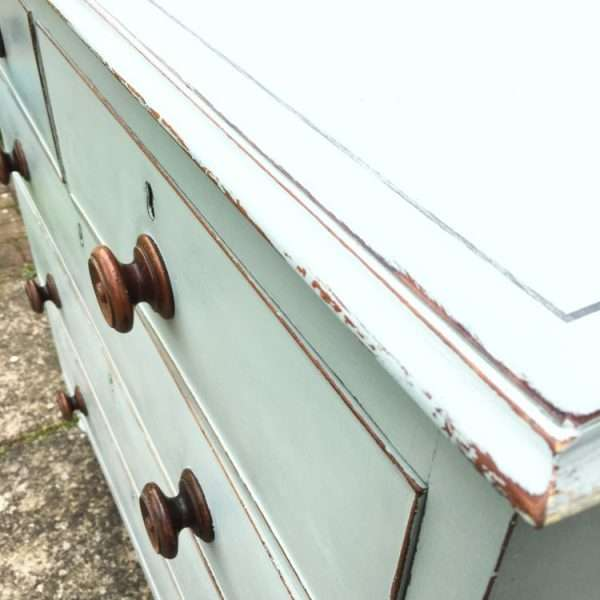 Early Victorian Painted Mahogany Chest Of Drawers4