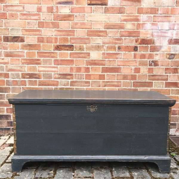 Mid Victorian Painted Pine Box4