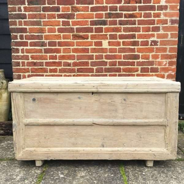 Early Victorian Rustic Bleached Pine Box