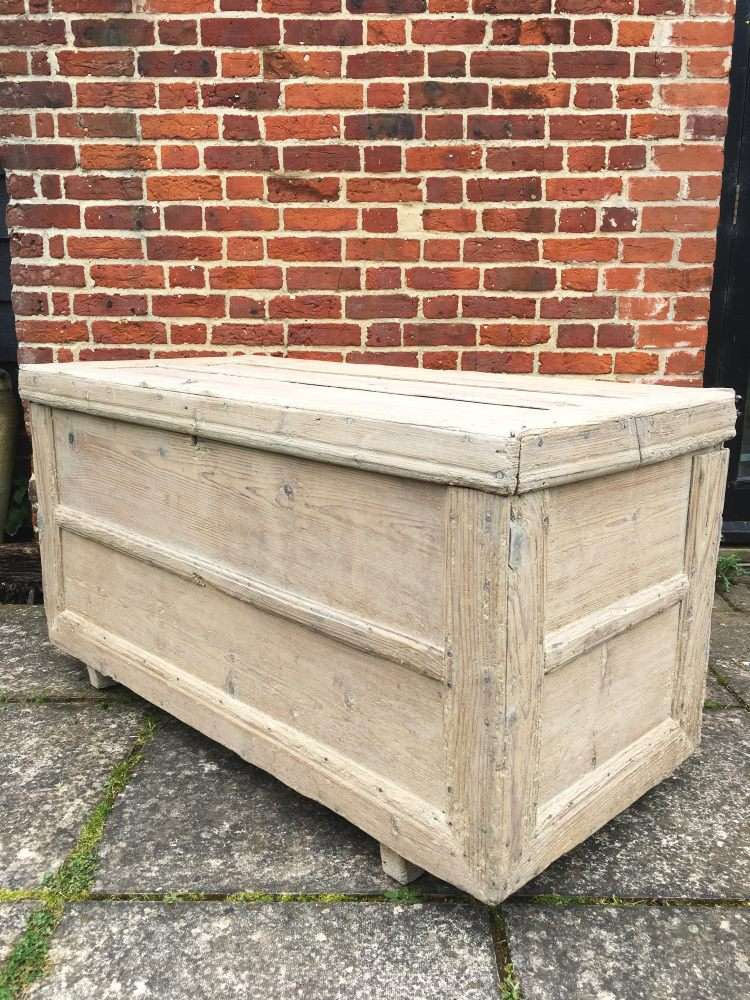 Early Victorian Rustic Bleached Pine Box3