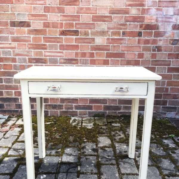 Georgian III Painted Mahogany Side Table