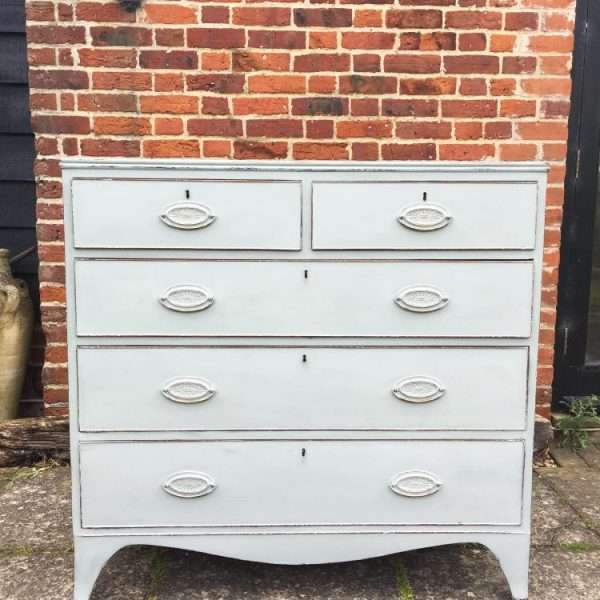 Regency Painted Mahogany Chest Of Drawers