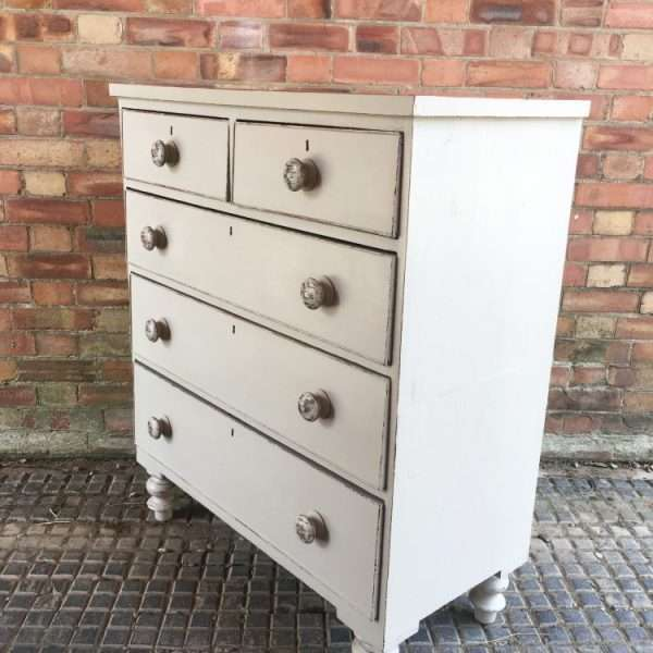 Late Victorian Painted Mahogany Chest Of Drawers2