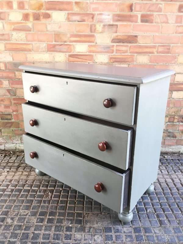 Mid Victorian Painted Mahogany 3 Drawer Chest SOLD – Ref:1290