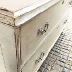 Mid Victorian Painted Pine 2 Drawer Base SOLD- Ref:1288
