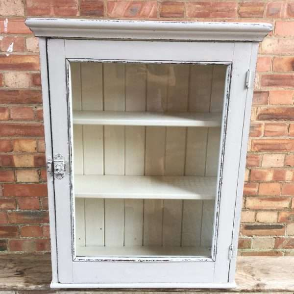 Edwardian Painted Pine Wall Cabinet3