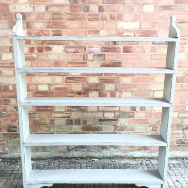 Late Victorian Painted Pine Rustic Shelves