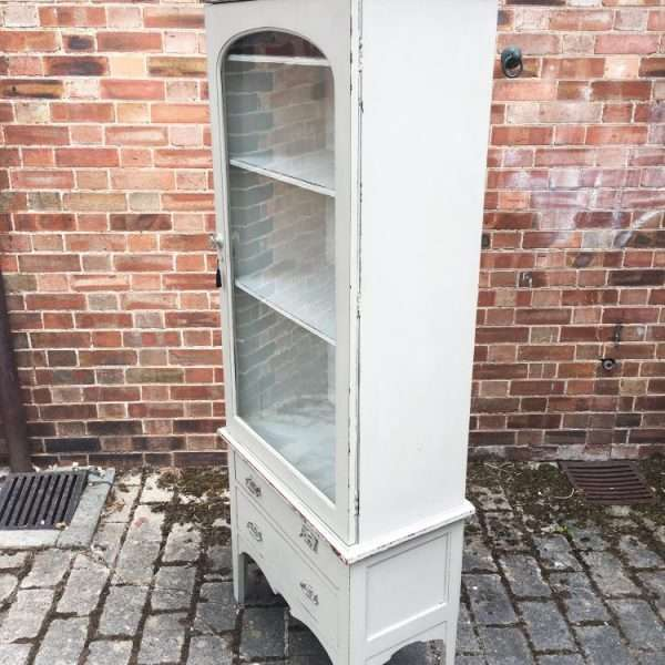 Late Victorian Painted Mahogany Glazed Cabinet1