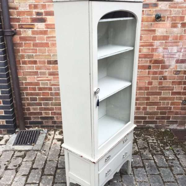 Late Victorian Painted Mahogany Glazed Cabinet