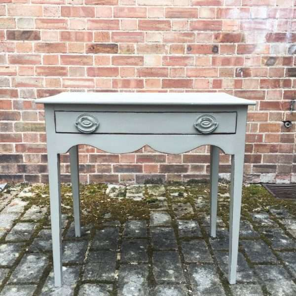 Late Georgian Painted Mahogany Bowfront Sidetable4