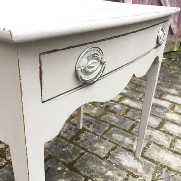Late Georgian Painted Mahogany Bowfront Sidetable