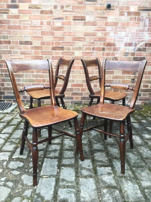 Set Of 4 Mid Victorian Elm Essex Chairs SOLD- Ref:1293
