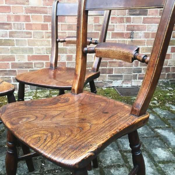 Set Of 4 Mid Victorian Elm Essex Chairs2