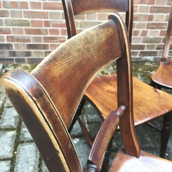Set Of 4 Mid Victorian Elm Essex Chairs