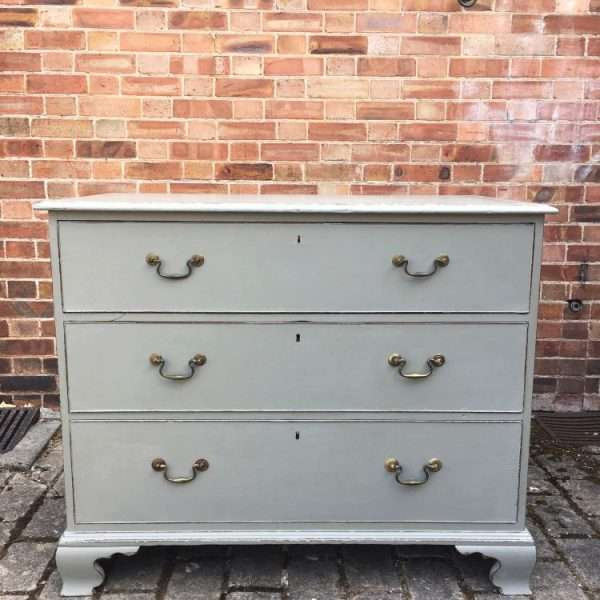 Georgian Painted Mahogany Chest Of Drawers4