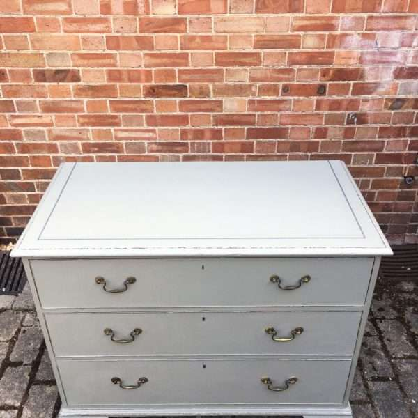 Georgian Painted Mahogany Chest Of Drawers3