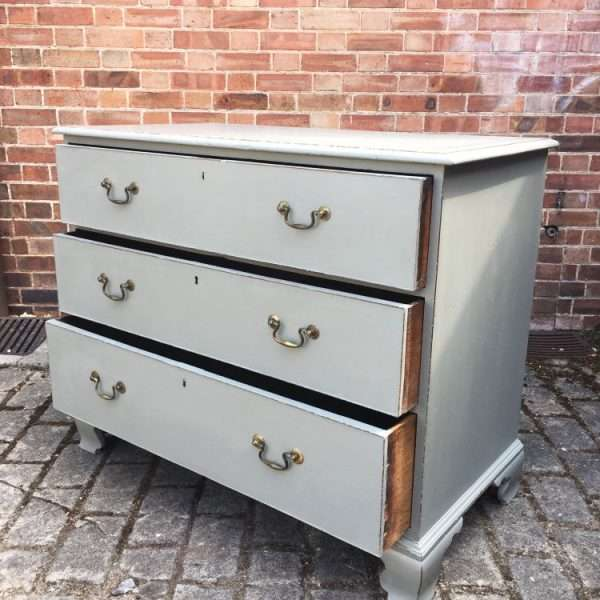 Georgian Painted Mahogany Chest Of Drawers2