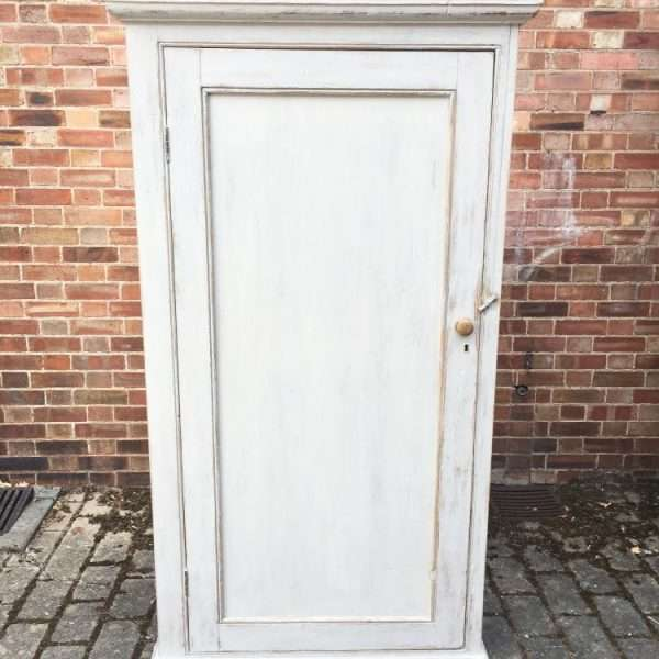 Late Victorian Painted Pine Cottage Wardrobe6