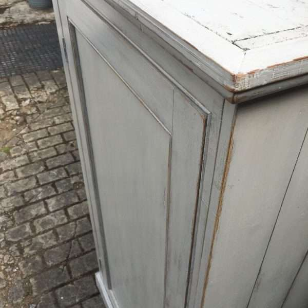 Late Victorian Painted Pine Cottage Wardrobe
